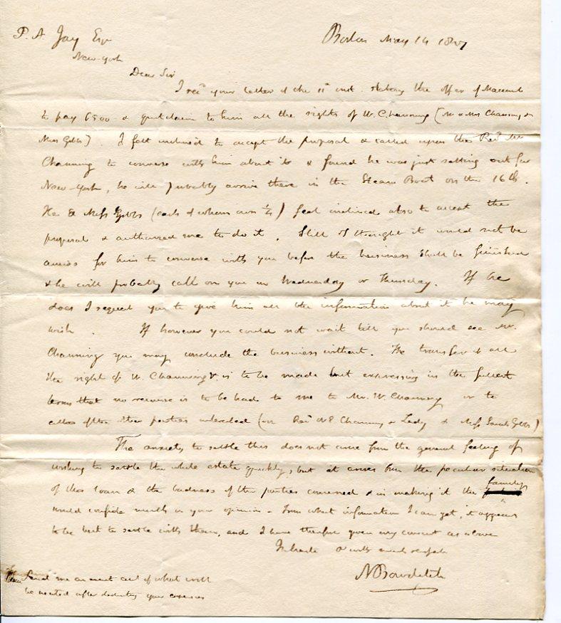 bowditch-jay1827ALS